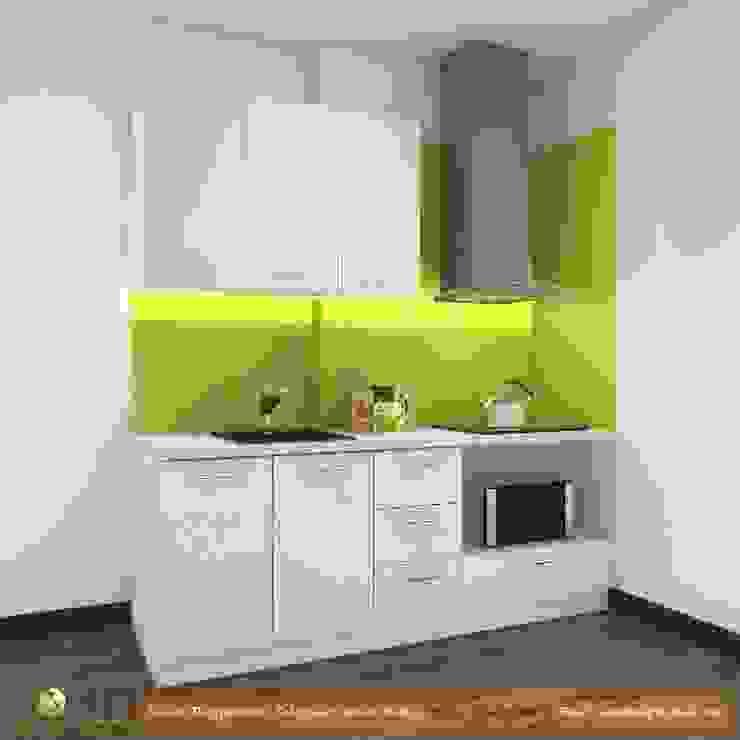 Mẫu tủ bếp đơn giản cho nhà cấp 4 bởi TỦ BẾP GỖ VIỆT Hiện đại Gỗ Wood effect