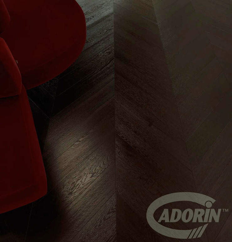 Wenge tone Wood floor - Oak Chevron 45 pattern Cadorin Group Srl - Italian craftsmanship production Wood flooring and Coverings Floors