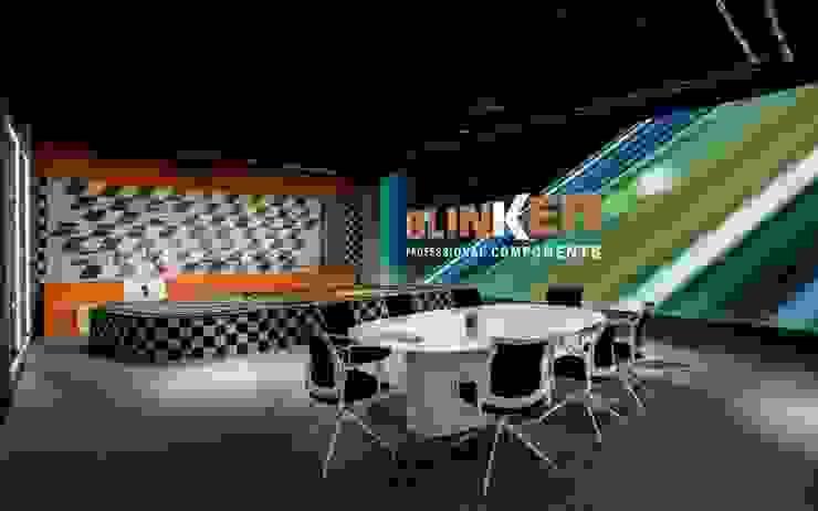 Sala de juntas temática Tono Lledó Estudio de Interiorismo en Alicante Edificios de oficinas de estilo moderno Negro