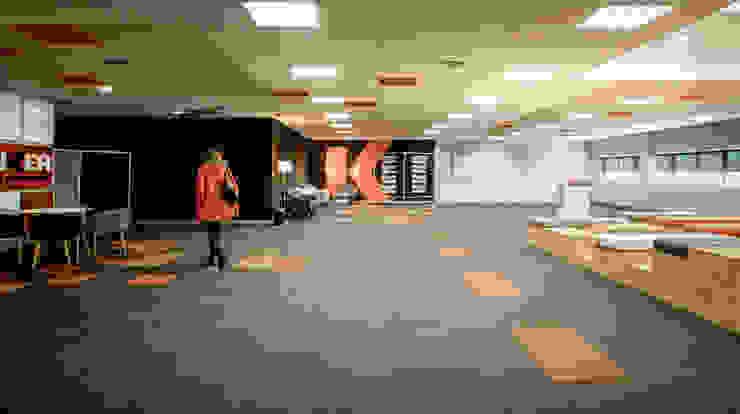 Diseño de espacio multifuncional Tono Lledó Estudio de Interiorismo en Alicante Edificios de oficinas de estilo moderno