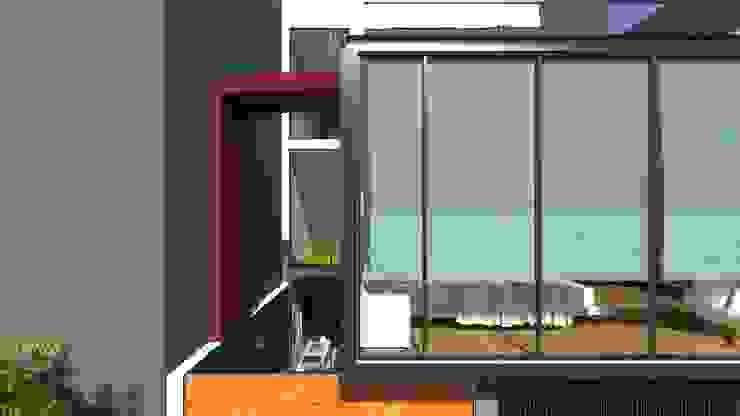FACHADA Casas modernas: Ideas, diseños y decoración de TECTONICA STUDIO SAC Moderno