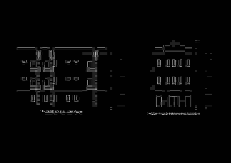 fachadas sur y este Oficinas de estilo tropical de Alexander Chivico & Architects Tropical