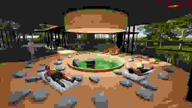 ESPACIO MANTRA de CASTLE ARQUITECTOS Mediterráneo Bambú Verde