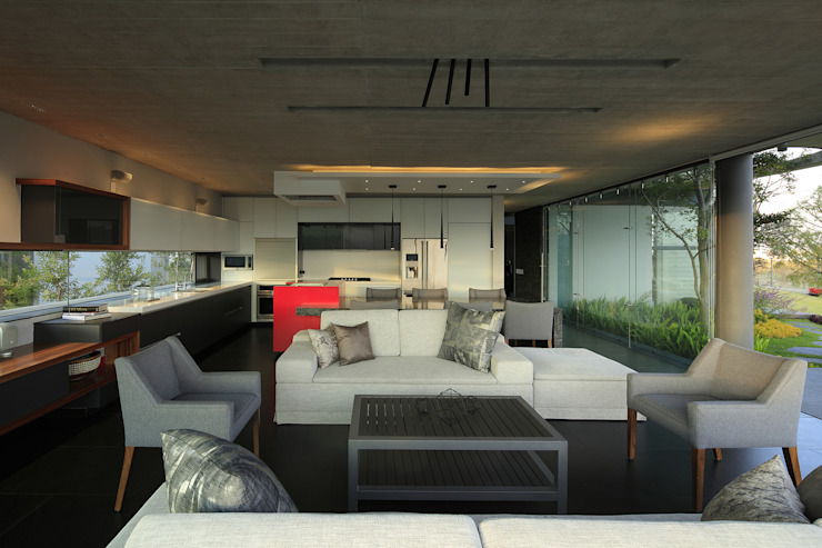 Modern living room by Echauri Morales Arquitectos Modern
