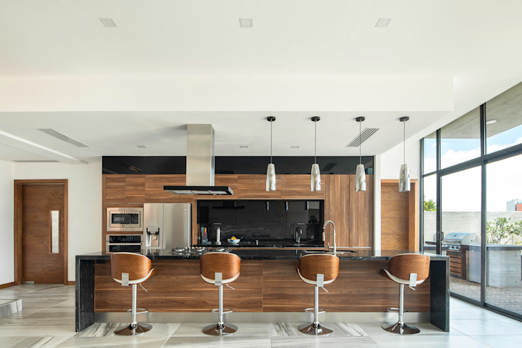 Cocina Cocinas de estilo moderno de Garzamaya Arquitectos Moderno Madera Acabado en madera