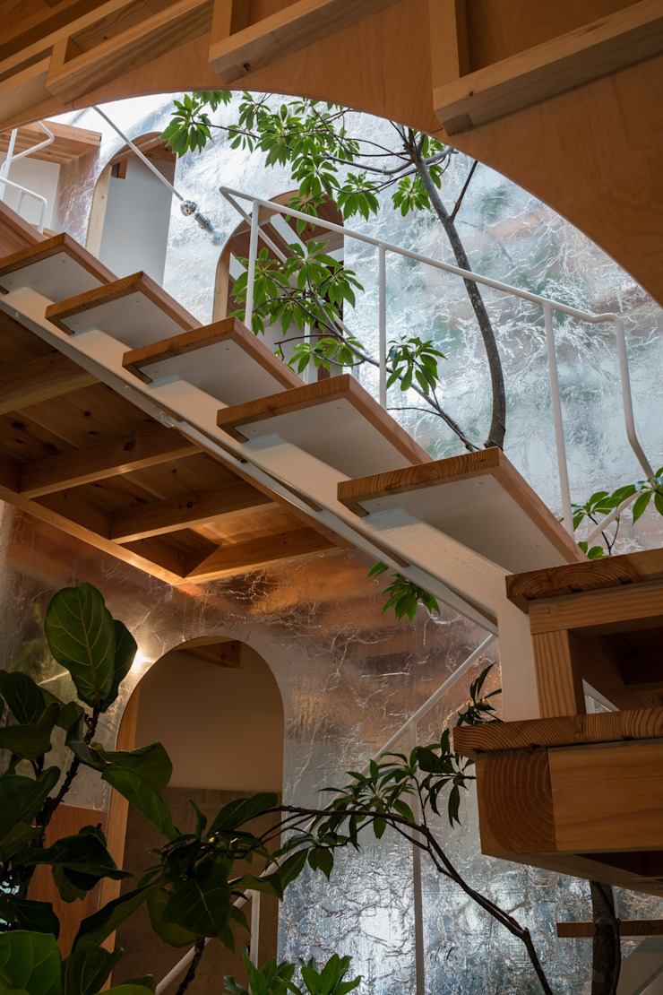 by FUMIASO ARCHITECT & ASSOCIATES/ 阿曽芙実建築設計事務所 Eclectic Wood Wood effect