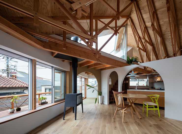 FUMIASO ARCHITECT & ASSOCIATES/ 阿曽芙実建築設計事務所 Salon scandinave Bois