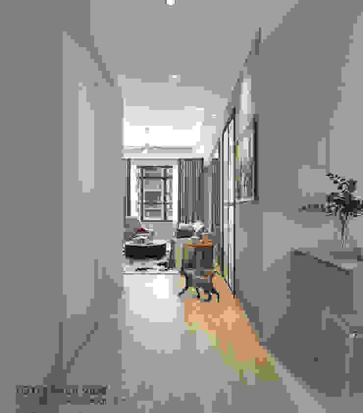 Couloir, entrée, escaliers modernes par Swish Design Works Moderne