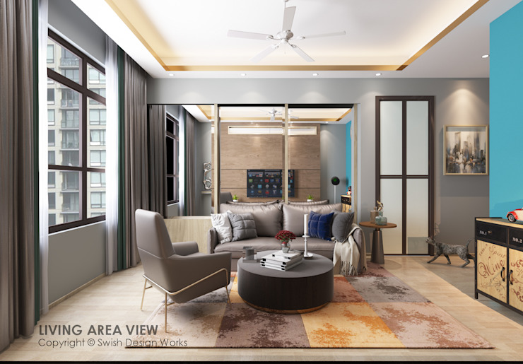 Salon moderne par Swish Design Works Moderne