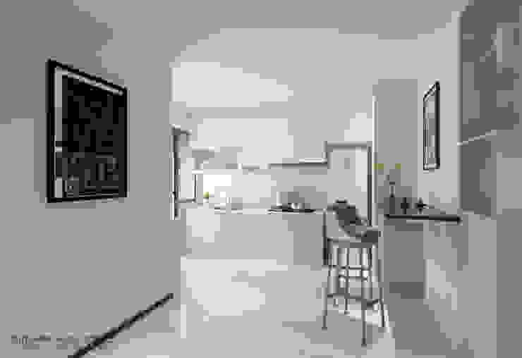 Kitchen cabinets 現代廚房設計點子、靈感&圖片 根據 Swish Design Works 現代風 合板