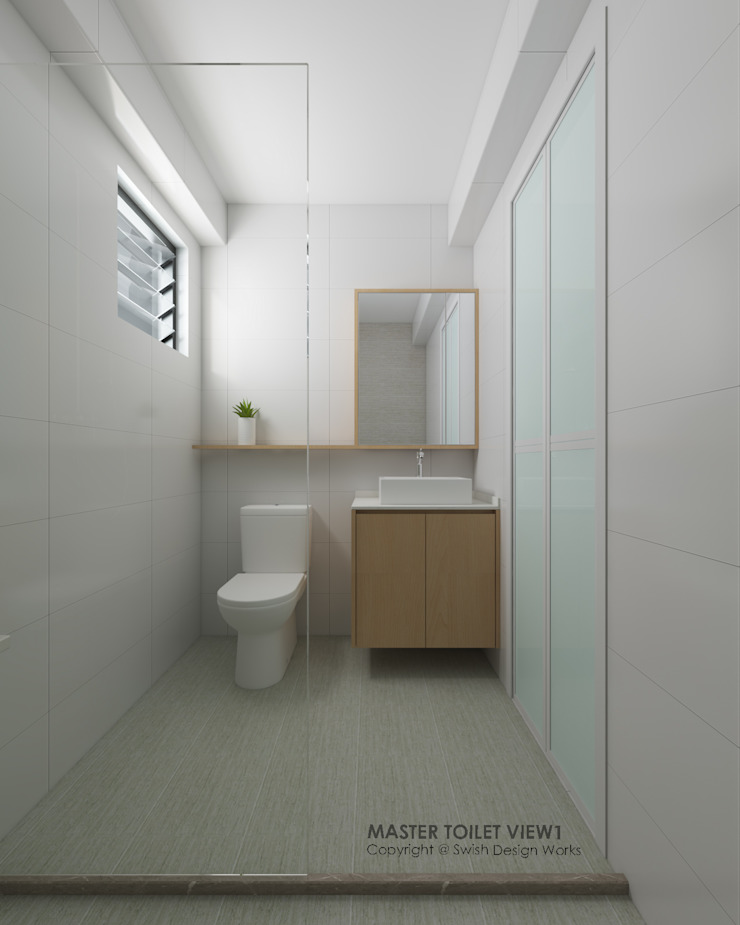 Bathroom Modern style bathrooms by Swish Design Works Modern