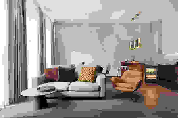 Студия архитектуры и дизайна Дарьи Ельниковой Salas de estar minimalistas