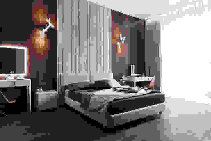 Minimalistische slaapkamers van Студия архитектуры и дизайна Дарьи Ельниковой Minimalistisch