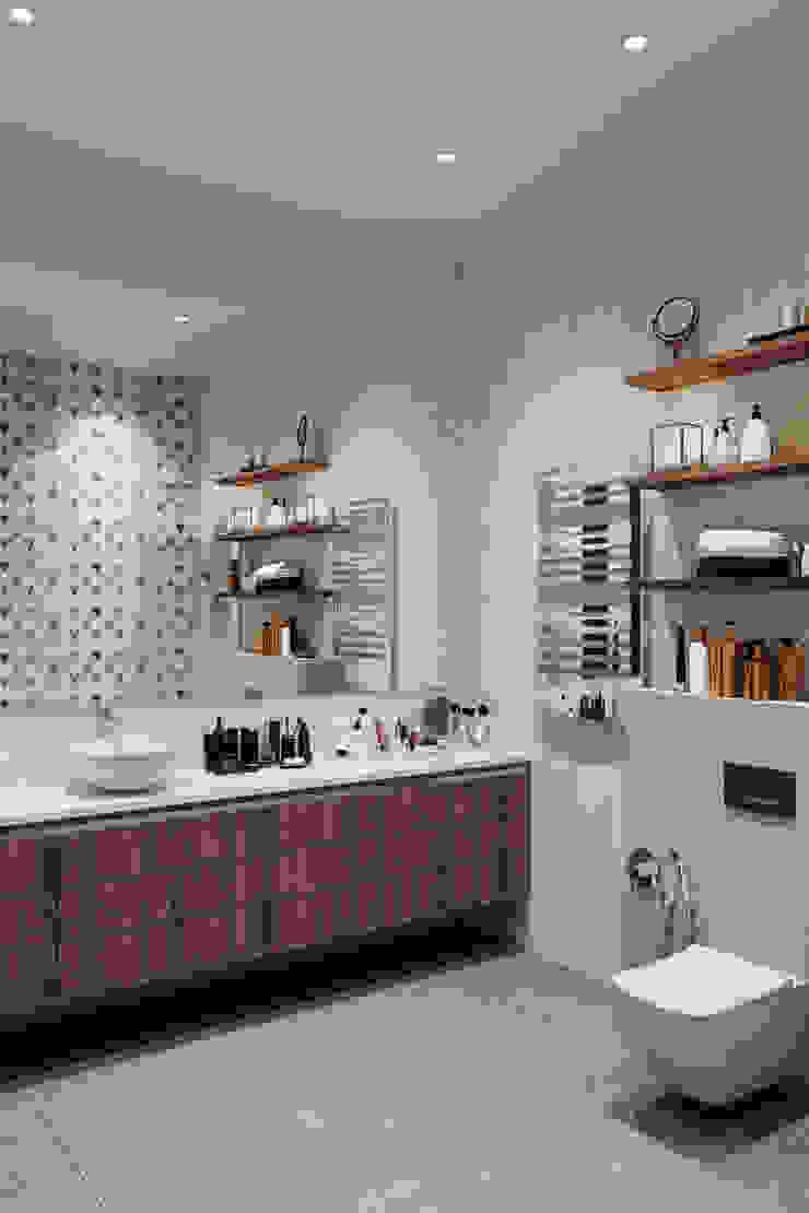 Студия архитектуры и дизайна Дарьи Ельниковой Casas de banho minimalistas