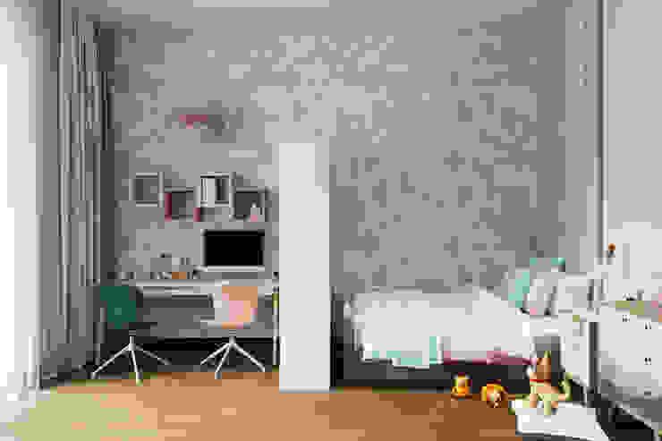 Студия архитектуры и дизайна Дарьи Ельниковой Quartos de criança minimalistas