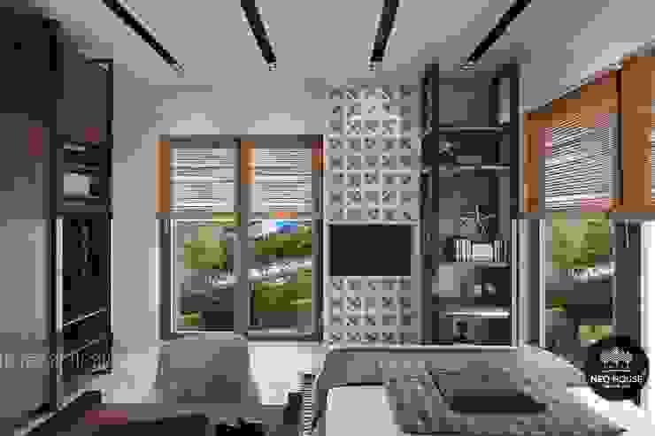 Thiết kế thi công nội thất biệt thự phố 3 tầng tại quận 12: hiện đại  by NEOHouse, Hiện đại