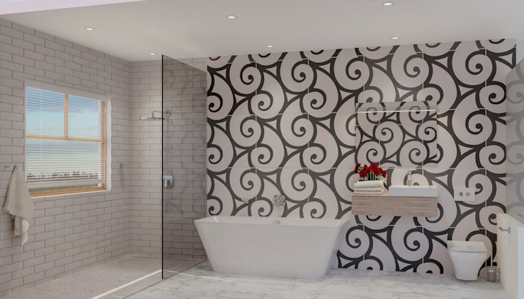After Bathroom Modern bathroom by Deborah Garth Interior Design International (Pty)Ltd Modern