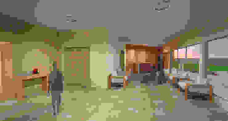 Foyer do auditório Corredores, halls e escadas modernos por Fávero Arquitetura + Interiores Moderno