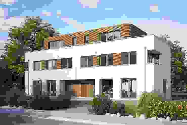 Dreifamilienhaus in Holzbauweise in Großhadern ECOLINE Holzsystembau GmbH & Co. KG Mehrfamilienhaus