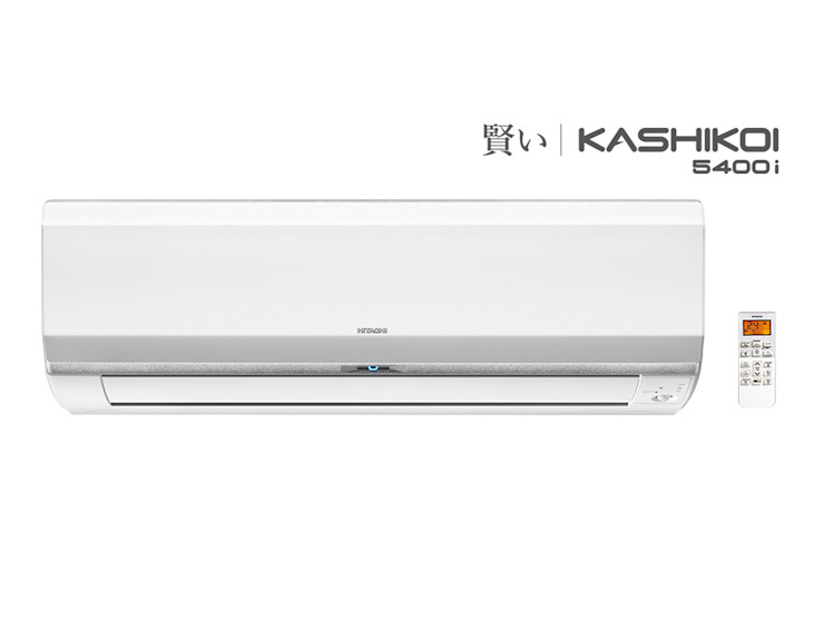 Inverter Split AC Johnson Control-Hitachi Air Conditioning India Limited Small bedroom Iron/Steel White