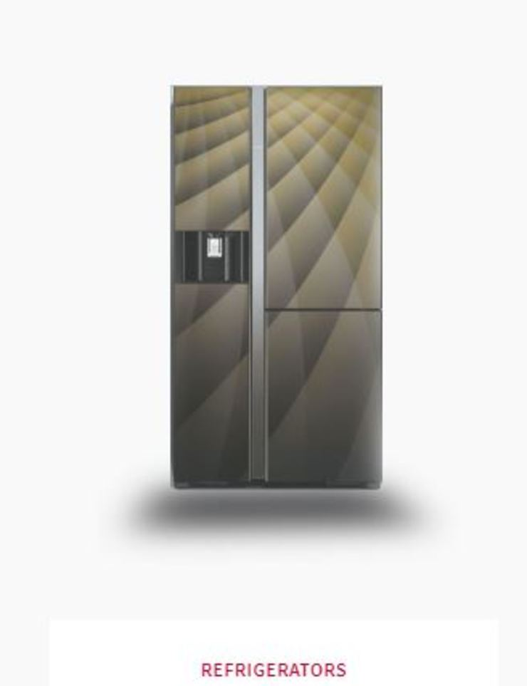 3 Door Side by Side Refrigerator Johnson Control-Hitachi Air Conditioning India Limited Kitchen Iron/Steel Black
