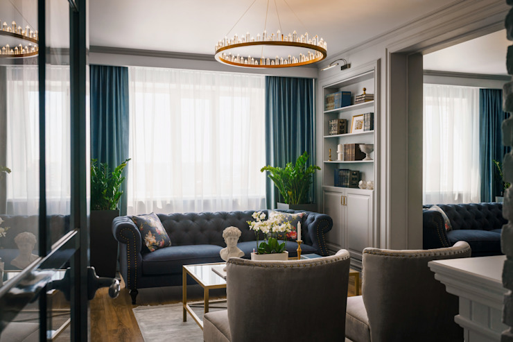 Living room by Элит интерьер и ландшафт , Classic Copper/Bronze/Brass