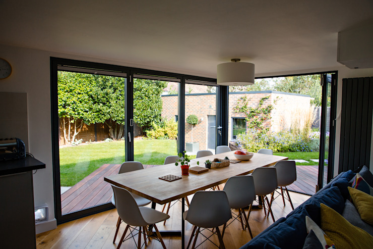 View of dining space from open-plan living space dwell design Modern dining room