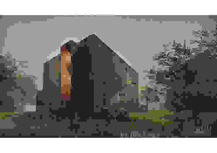 Casa CL - Fachada 03 Casas estilo moderno: ideas, arquitectura e imágenes de Zenobia Architecture Moderno