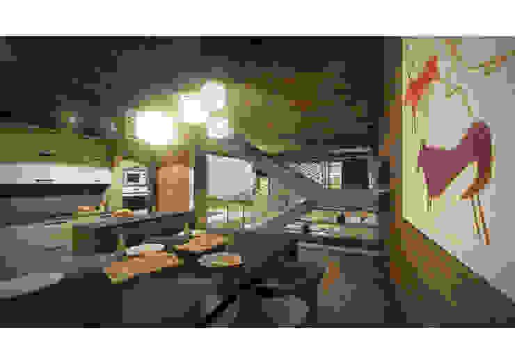 Casa CL - Interior 03 Comedores de estilo moderno de Zenobia Architecture Moderno