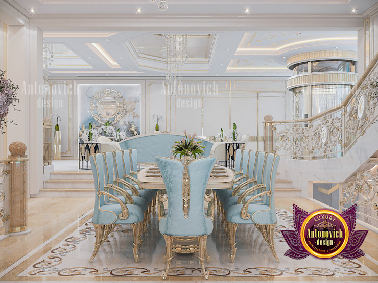 How To Decorate A Luxurious Royal Dining Room by Luxury Antonovich Design