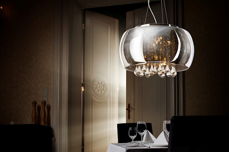 Luxury pendant light with crystals Modern dining room by Luxury Chandelier Modern Glass