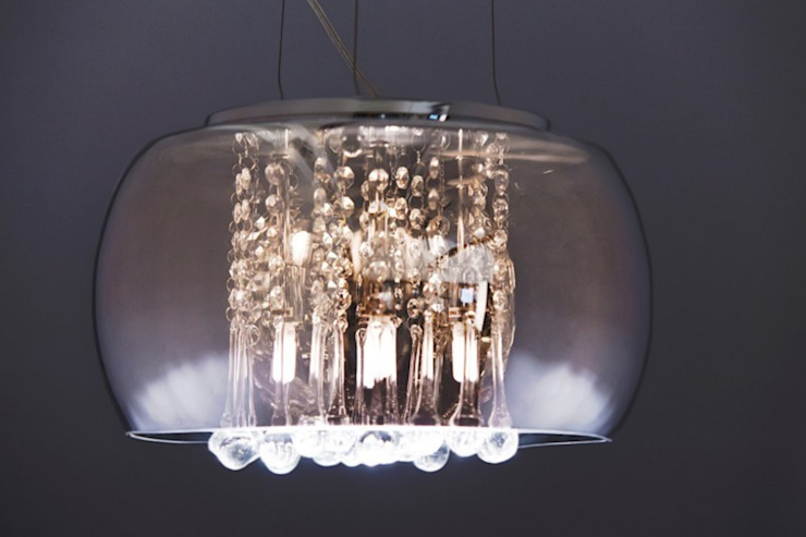 crystals single pendant ceiling light Modern dining room by Luxury Chandelier Modern Glass