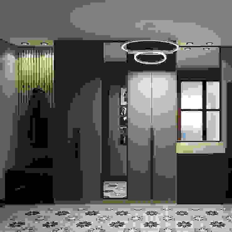Minimalist Koridor, Hol & Merdivenler Творческая мастерская Твердый Знак Minimalist