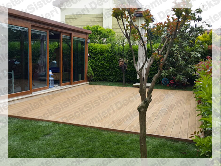 Modern garden by Deck Sistemleri Modern Wood-Plastic Composite