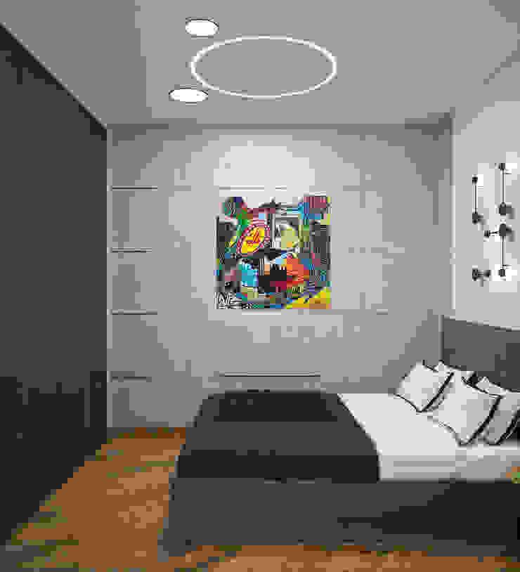 Dormitorios de estilo industrial de «Студия 3.14» Industrial