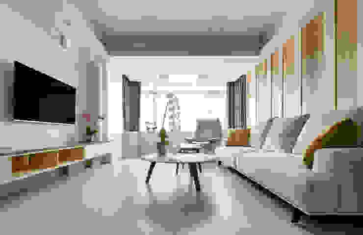 靜謐禪風-安居時光 现代客厅設計點子、靈感 & 圖片 根據 森活館室內裝修有限公司 現代風