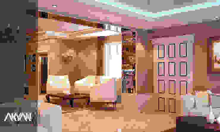 غرفة معيشة رئيسية : الحد الأدنى  تنفيذ AKYAN SQUARE, تبسيطي مواد مُصنعة Brown