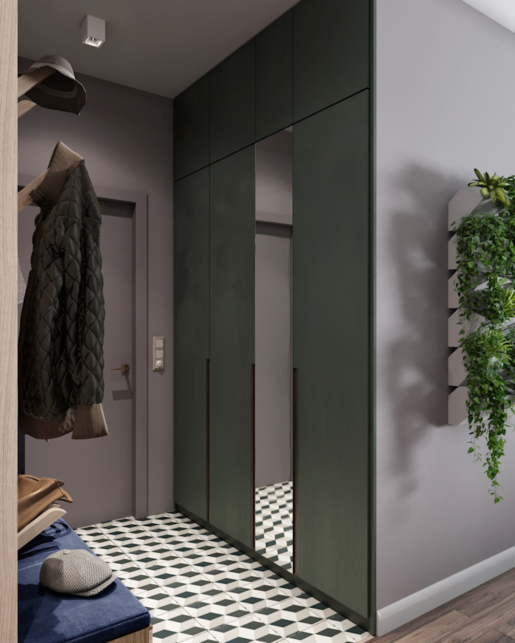 Country style corridor, hallway& stairs by «Студия 3.14» Country