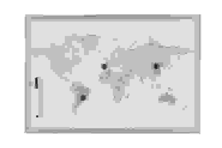 Pizarra magnética mapamundi Go4cork Oficinas y tiendas Aluminio/Cinc Gris