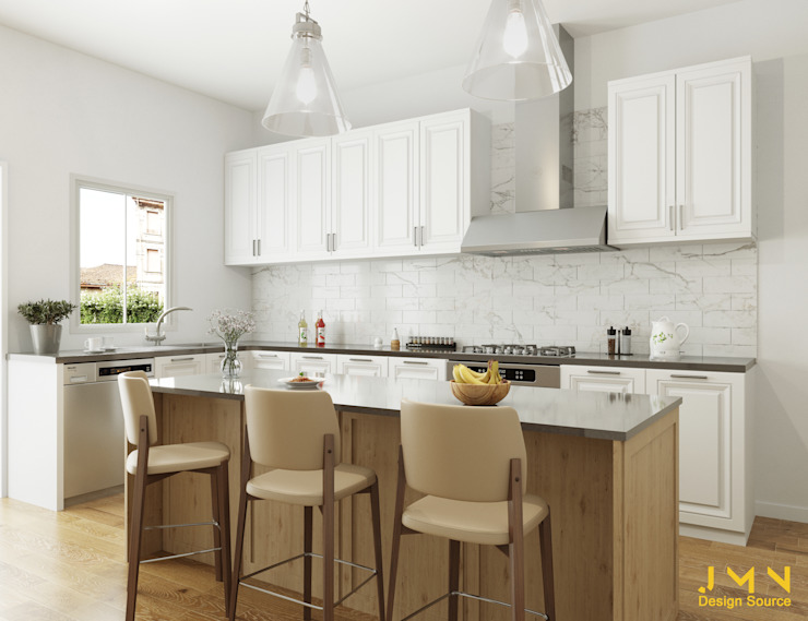 3d Kitchen Rendering Homify