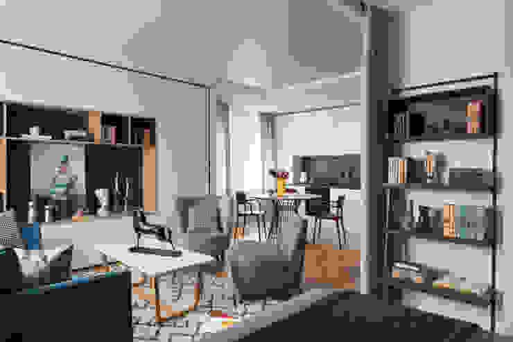 Salas / recibidores de estilo  por Архитектор  Голубович Н.С., Escandinavo