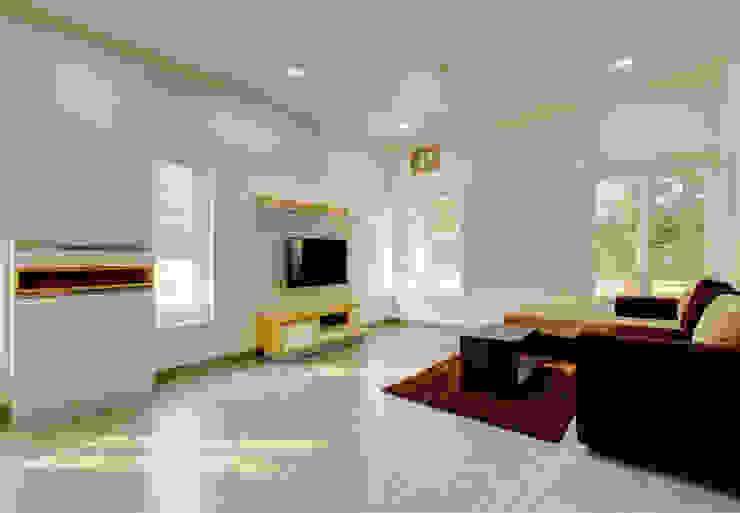 BASHEER'S RESIDENCE | VIBRANT MINIMALISM Minimalist living room by Eminence Architects [Research + Design] Minimalist