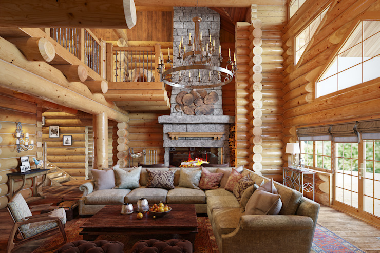Rustic style living room by SJull Design Rustic