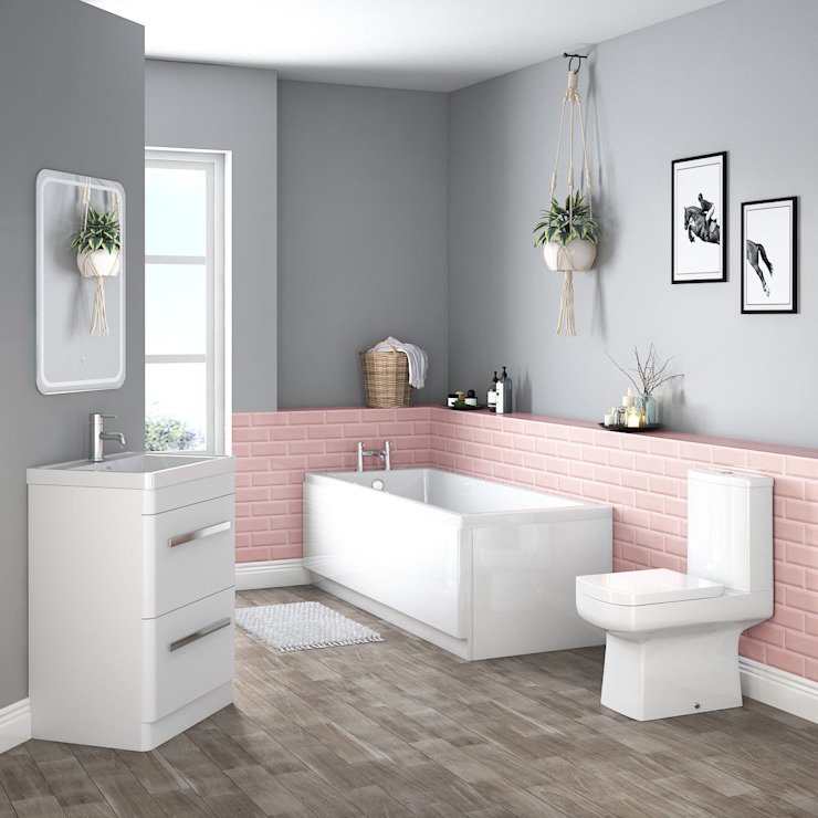 Boston Bathroom Suites Scandinavian style bathroom by homify Scandinavian Ceramic