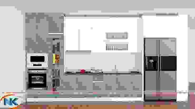 Combo mẫu tủ bếp thẳng cho căn bếp hẹp chiều ngang bởi Nội thất Nguyễn Kim