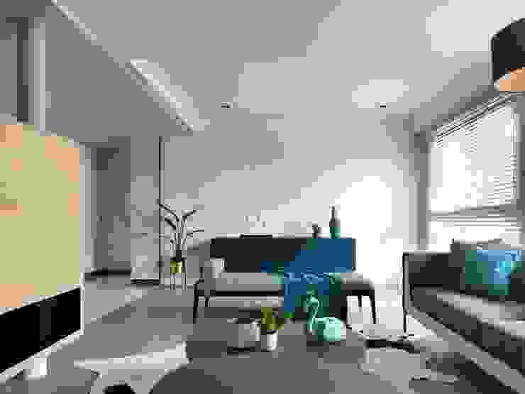 晴空桃源 Clear sky 现代客厅設計點子、靈感 & 圖片 根據 肯星室內設計 現代風