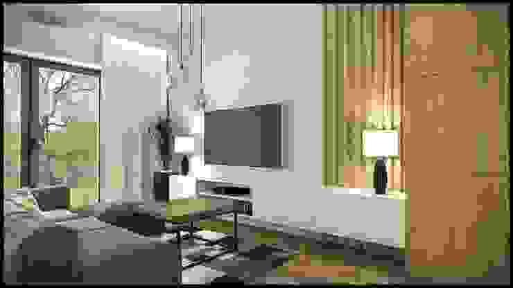 GACKOWSKA DESIGN Ruang Keluarga Modern