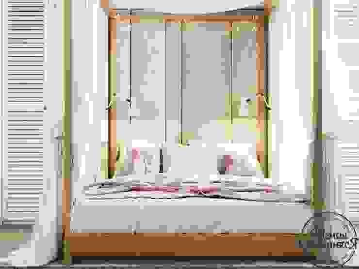 غرفة نوم تنفيذ Компания архитекторов Латышевых 'Мечты сбываются', تبسيطي