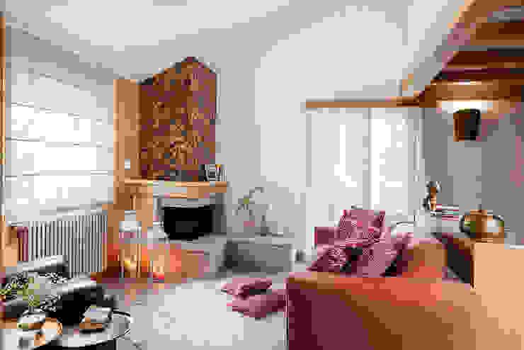 Salotto Soggiorno minimalista di manuarino architettura design comunicazione Minimalista Legno Effetto legno