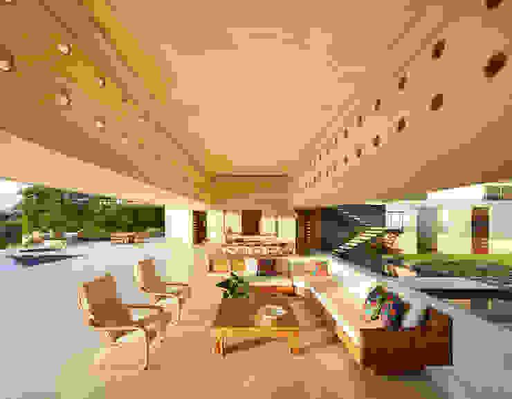 Salas / recibidores de estilo  por Carlos Campuzano y Asociados Arquitectos, Moderno